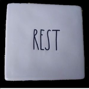 RAE DUNN REST / Blank square cube block Pa…